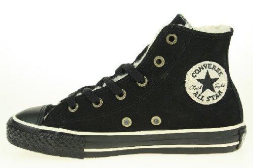 Converse-Chuck Taylor Daim Hi Noir Enfants-cheville bottes-noir - 28
