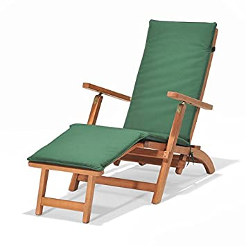 Chichester FSC Eucalyptus Wood Outdoor Steamer Chair With Weather Tex  Cushion