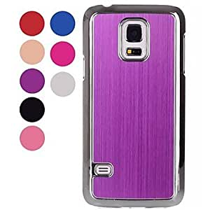 LIMME Ultrathin Fashion Electroplate Wire Drawing Aluminium Alloy Hard Case for Samsung Galaxy S5 Mini (Assorted Colors) , White