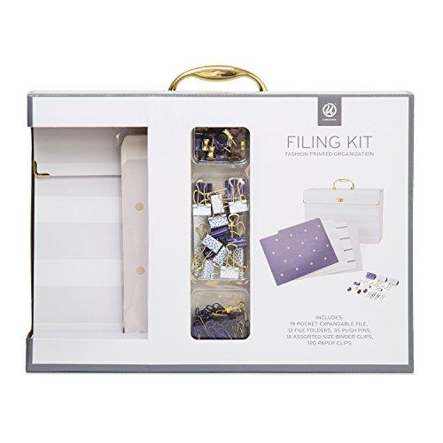 U Brands Expandable File Folder Organizer, Fashion File Folders, Office Accessory Value Pack, Purple (Purple Fashion Accessories)