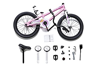 RoyalBaby BMX Freestyle Kids Bike, Boy's Bikes and Girl's Bikes with training wheels, Gifts for children, 18 inch wheels, in 6 colors