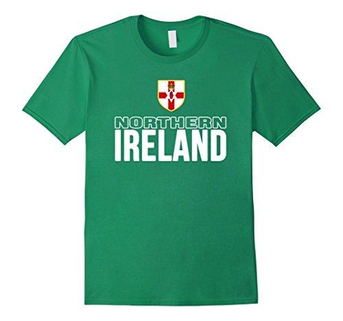 Men's Northern Ireland T-shirt Norn Iron Flag Tee Soccer Football Medium Kelly Green