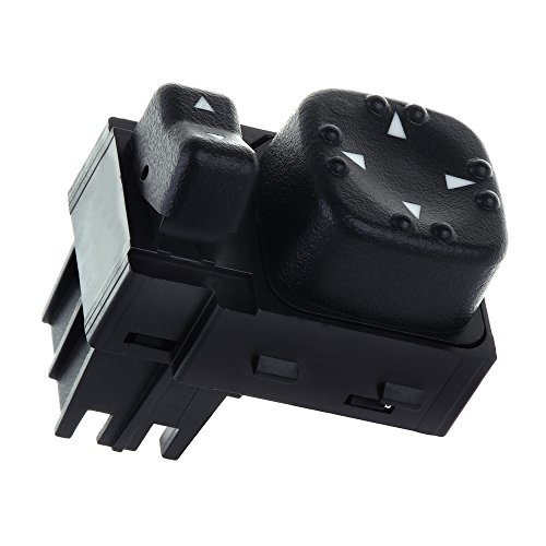 Power Mirror Switch Replacement fit for 1500 2500 2000-2002 Chevy Silverado 1500 1500HD 2500 2500HD 3500 Suburban 1500 2500 2000-2002 GMC Sierra 1500 2500 2000-2002 GMC Yukon XL 1500 2500 (View Switch Side Mirror)