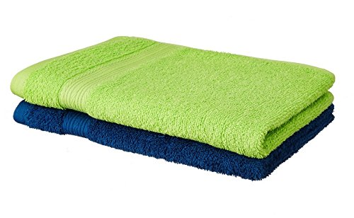 Amazon price history for Amazon Brand - Solimo 100% Cotton 2 Piece Hand Towel Set, 500 GSM (Iris Blue and Spring Green)