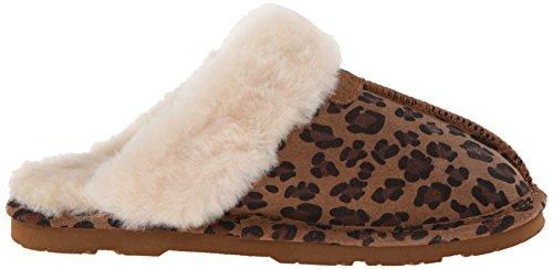 Bearpaw Frauen Loki II Slide Slipper Hickory / Leopard
