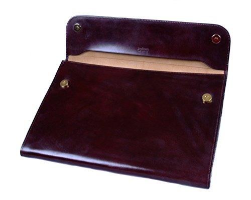 SAGEBROWN Brown Bridle Envelope Folder by Sage Brown (Image #3)