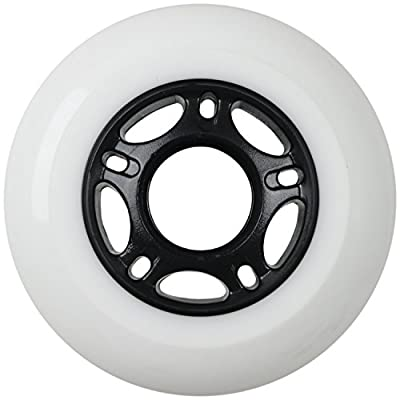 Player's Choice Outdoor Inline Skate Wheels 76MM 89a White x8 W/ABEC 5 Bearings : Sports & Outdoors