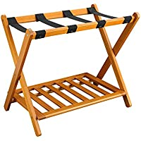 Casual Home 102-28 Shelf- Honey Oak Luggage Rack