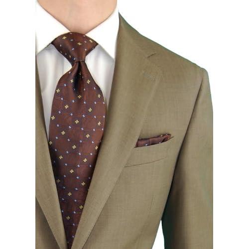 44a56f31d65ba DTI DARYA TRADING 2 Button Mens Suit Nano Luxury Technology Vantage Wool  Technical Stretch Tan chic