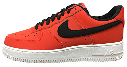 26346a620895e Nike Air Force 1 '07 Leather Men's Shoes Habanero Red/Black/White  aj7280-601 (10 D(M) US)