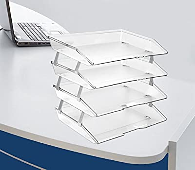 Acrimet Facility Letter Tray 4 Tiers (Clear Crystal Color)
