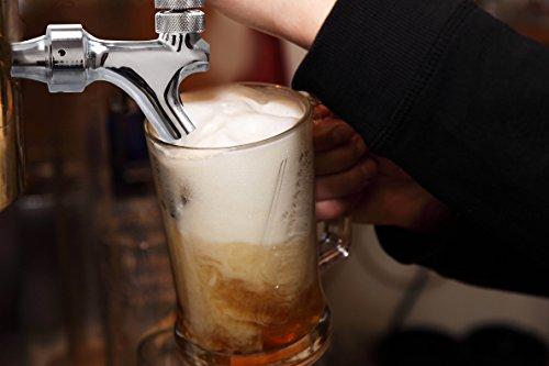 Ferroday Stainless Steel Core Draft Beer Faucet Polised Beer Faucet for Keg Tap Tower Beer Shank and Kegerator(Beer Faucet) by Ferroday (Image #3)
