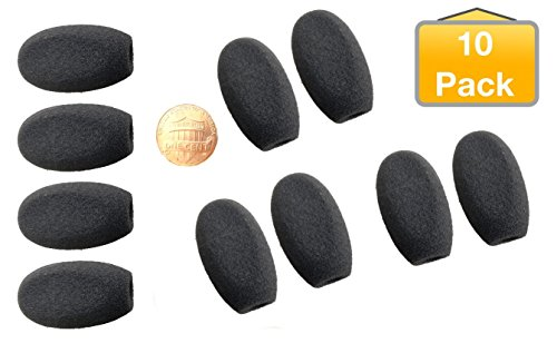 Foam Gaming Microphone Windscreen Covers 10pk I Turtle Beach Recon, Elite Pro, Sades SA708, Logitech Prodigy, Kotion G2000, 8740-10