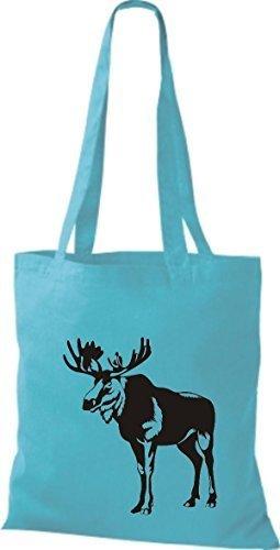 Shirtstown Stoffbeutel Tiere Elch, Elk, Karibus Sky