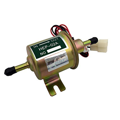 Universal Electric Fuel Pump HEP-02A 12V Metal Solid Petrol Low Pressure 110L / H 3-6psi for cars, motorcycles, boat etc
