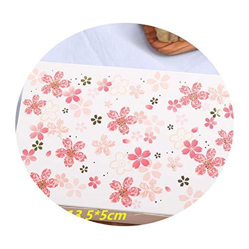 10Pcs Cherry Blossoms Flower Paper Chocolate Cake Box