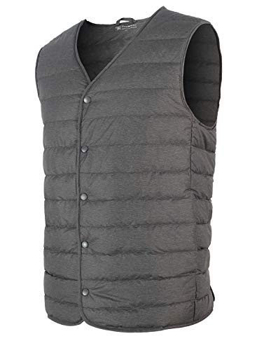 Ultra Grey Quilted Waist Ililily Down Light Coat Duck Padded Vest 6PBP4pn
