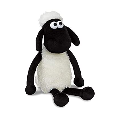 Shaun the Sheep 61173 Plush Cuddly Toy, Black and White, 8in, Suitable for Adults and Kids: Toys & Games