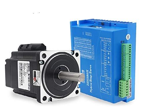 (LAPOND 4.5N.m 2 Phase Hybrid Stepper Servo Motor 109mm 6A + 2HSS86 Servo Motor Driver Controller for CNC Router Engraving Milling Machine (86J1880EC))