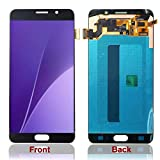 HJSDtech LCD Touch Glass Screen Display Digitizer Assembly Replacement for Samsung Galaxy Note 5 N920 N920f N920t N920a (Black)