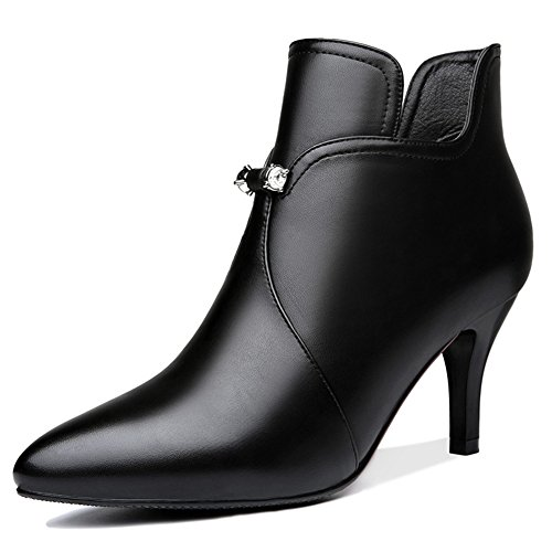 Dress Gorgeous Stiletto Boot Shoes Party Pumps Platform Black U Ankle Bootie Toe Heels for High MAC Pointy f1XxOq