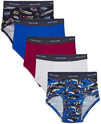 Fruit Of The Loom Boys' Fashion Brief (Pack of 5), Multi, Medium – The Super Cheap