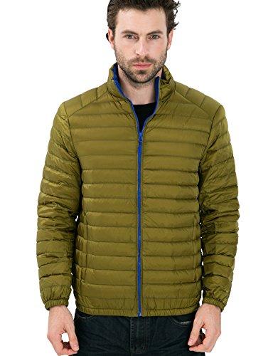CHERRY CHICK Men's Packable Nylon Down Puffer Jacket 2017 Apple Green