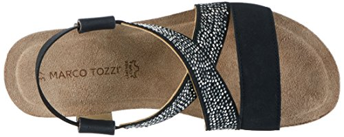 Marco Tozzi Women's 28734 Wedge Heels Sandals Black (Black 001) tUswuXcq
