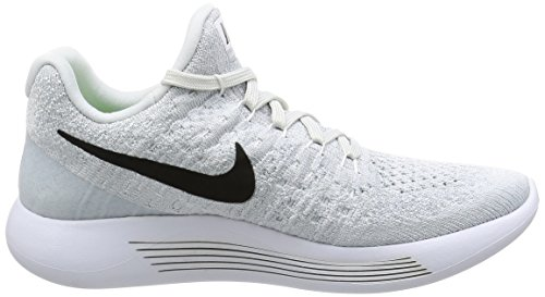 Shoe Platinum Low Black White wolf Flyknit 2 pure Lunarepic Grey Running NIKE Women's BwYxS