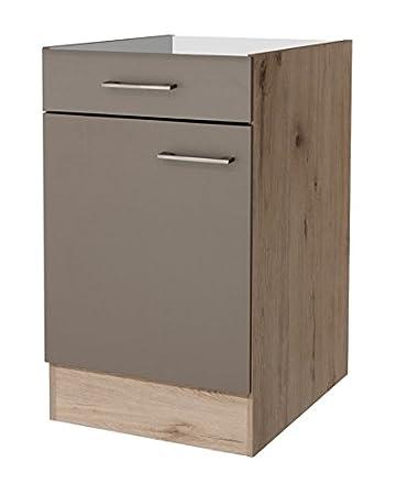 smartmoebel Küchen Unterschrank 50 cm breit ohne Arbeitsplatte ...