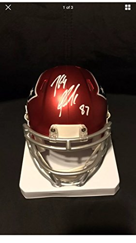 Rob Gronkowski Autographed Signed New England Patriots Rare BLAZE Speed Mini Helmet GRONK Exclusive Hologram W/Photo From Signing