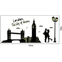 Wall Stickers,BCDshop Romanty London Lovers Wall Poster Decor Luminous Mural Decor Decal Removable