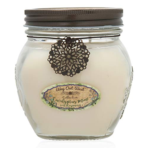 Way Out  West Candle with Eucalyptus Spearmint & Rosemary, 17 oz Jar -Stress Relief Gift-...