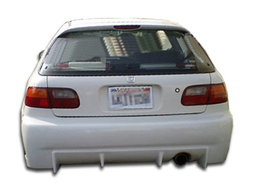 Duraflex Replacement for 1992-1995 Honda Civic 2dr / 4DR Buddy Rear Bumper Cover - 1 Piece (Buddy Civic 2dr Honda)