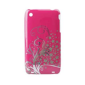 Flower Transparent Edge Protective PVC Case Cover for Iphone 3G/3GS (Roseo)