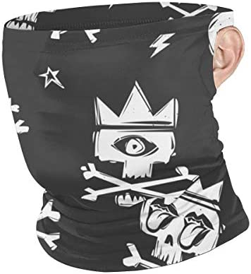 フェイスカバー Uvカット ネックガード 冷感 夏用 日焼け防止 飛沫防止 耳かけタイプ レディース メンズ A Skull With A Crown