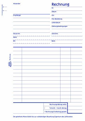 Avery Zweckform 704 Rechnung A5 Mit 1 Blatt Blaupapier 2x50 Blatt