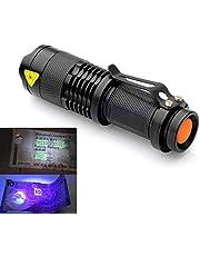 زوومابلي الصمام مصباح يدوي للأشعة فوق البنفسجية الشعلة ضوء الأشعة فوق البنفسجية ضوء أسود ضوء الأشعة فوق البنفسجية مصباح البطارية