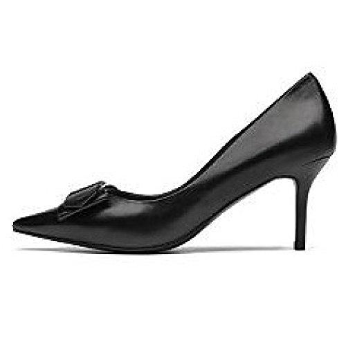 De 8 UK 3 Cour Mode Mariage Chaussures Travail 35 Sexy EU Femme Noir Hauts Talons 8cm Black qZaaP4Y