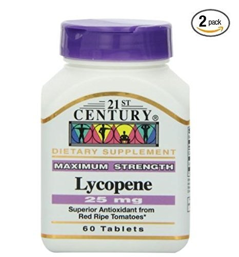 21st Century Lycopene 25 Mg Tablets, 60-Count (Pack of 2) by 21st Century