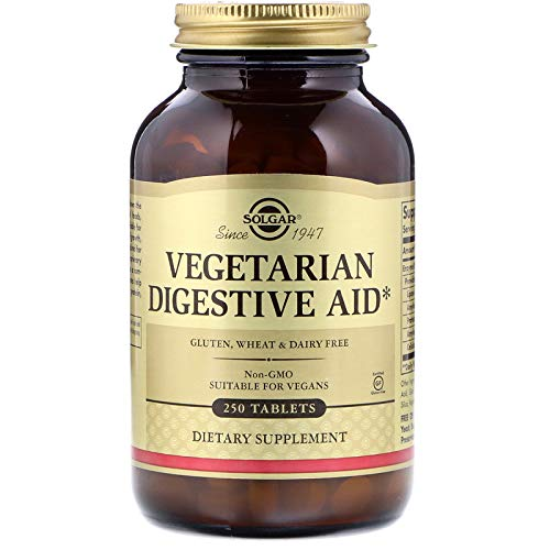 Solgar - Vegetarian Digestive Aid, 250 Chewable Tablets