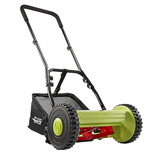 Manual Garden Lawnmower Hand Push Mower Grass Cutter with 17L Collection...