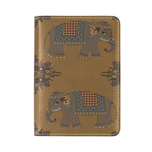 Africa Cute Elephant Passport Holder Cover Leather Travel case by Nigbin