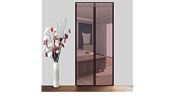 LONGHAI Mosquitera para Puerta Corredera, Cortina Mosquitera Que se Cierra como Magia Sin Huecos Instalación Fácil Protección contra Insectos para Puertas Balcones/Terraza,Brown,120x240m(47x94in): Amazon.es: Hogar