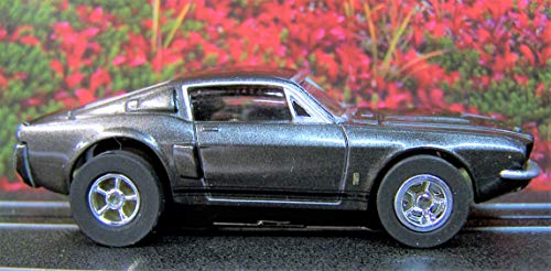 Auto World Smoke Gray 1967 Ford Mustang Shelby GT-350 Cars N Coffee Ho Scale Slot car from Auto World