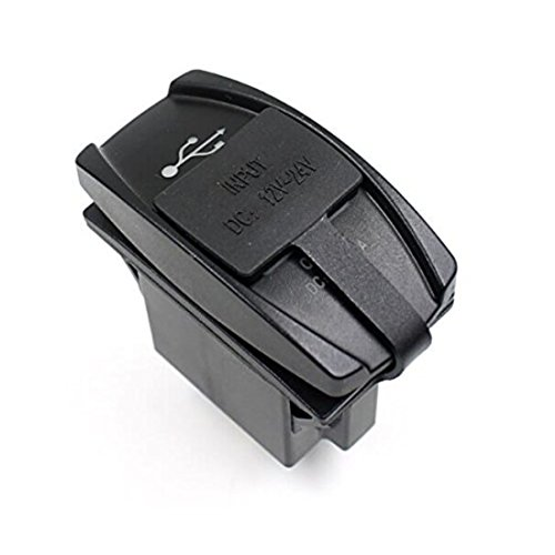 Black-Menba-12-24V-31A-Car-Vehicle-Jeep-Boat-Dual-USB-Charger-Ports-Plug