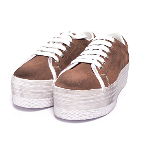 JC PLAY ZOMG SUEDE WASH - BROWN WHITE (40)