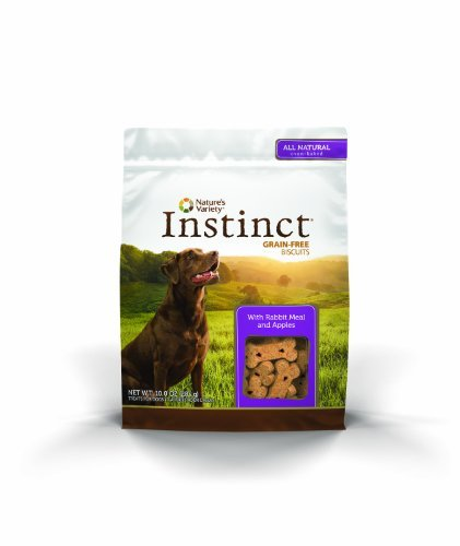 Nature's Variety Instinct Grain-Free Biscuits with Rabbit Meal & Apples Dog Treats, 10 oz. Bag by Nature's Variety