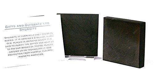 Shungite Shungit 50mm 2'' Electromagnetic Protection Coaster Tile - 5 Supplied