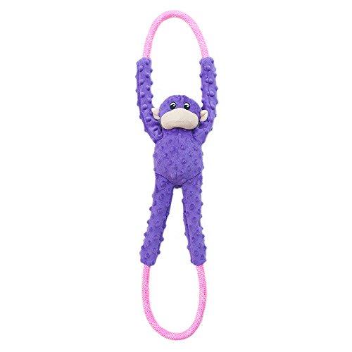 ZippyPaws Monkey RopeTugz Plush Purple product image